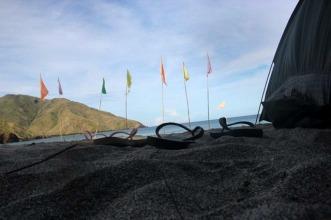Beach Bum at Anawangin Cove, Zambales