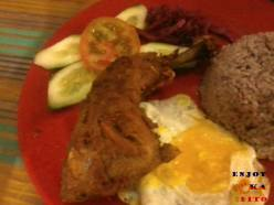 Sagada's Fried Pinikpikan with brown rice