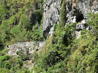 Rock formations and caves at Wawa Dam, Montalban Rizal