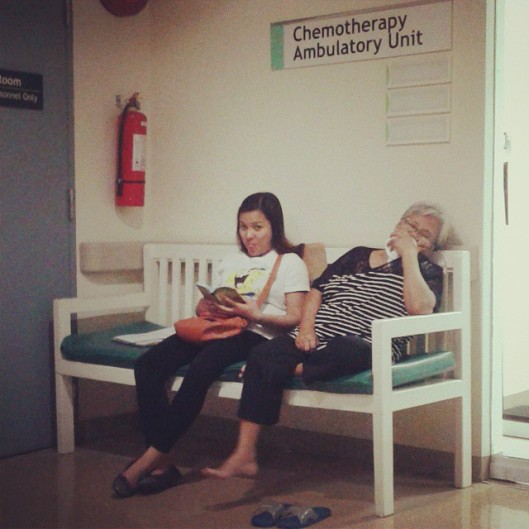 Mama's first chemo therapy