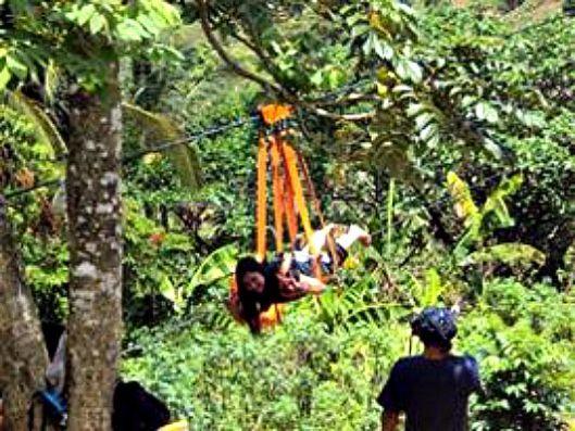 250-meters Zipline.