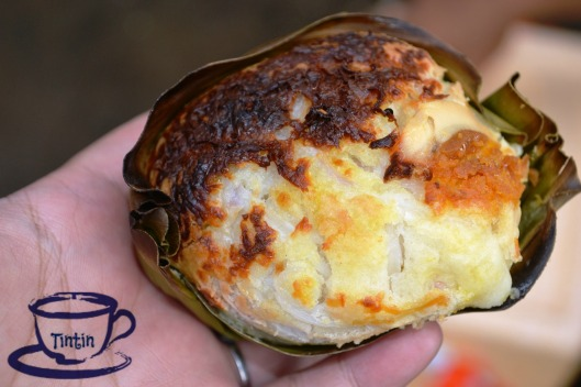 This is Bibingka with a twist. Our tour guide friend is so wise to make their regular sized-Bibingka into bite-size and even improved it by including coconut meat . yum!