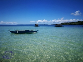 Before low tide view of Manlawi Sandbar